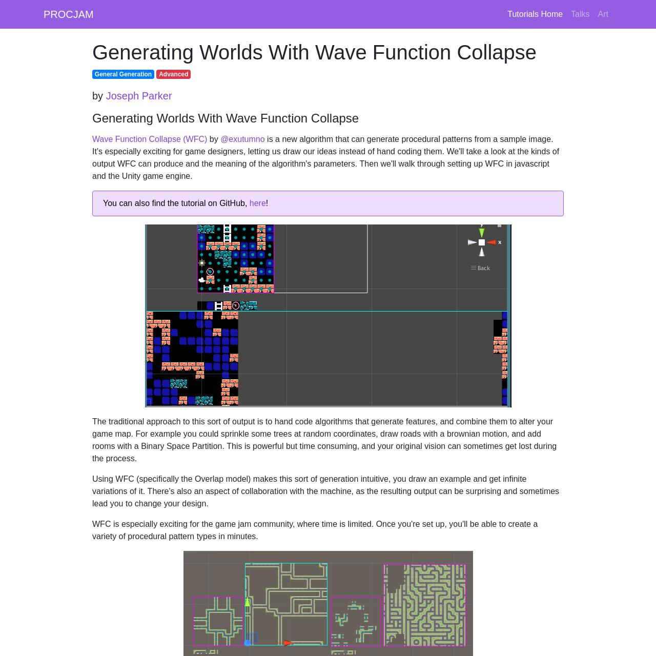 Are na / Generating Worlds With Wave Function Collapse - PROCJAM