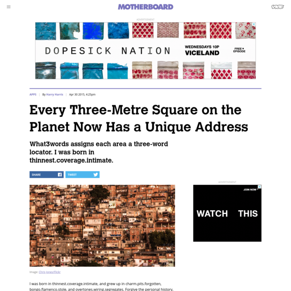 Every Three-Metre Square on the Planet Now Has a Unique Address
