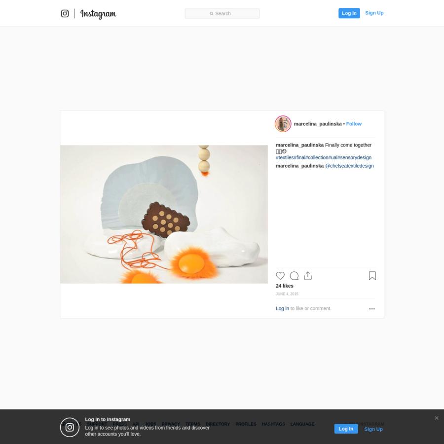 "24 Likes, 1 Comments - MARCELINA PAULINSKA (@marcelina_paulinska) on Instagram: ""Finally come together 🙏🏻😓 #textiles#final#collection#ual#sensorydesign"""