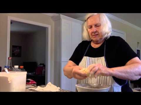 Making of Pennsylvania Dutch Pot Pie Noodles