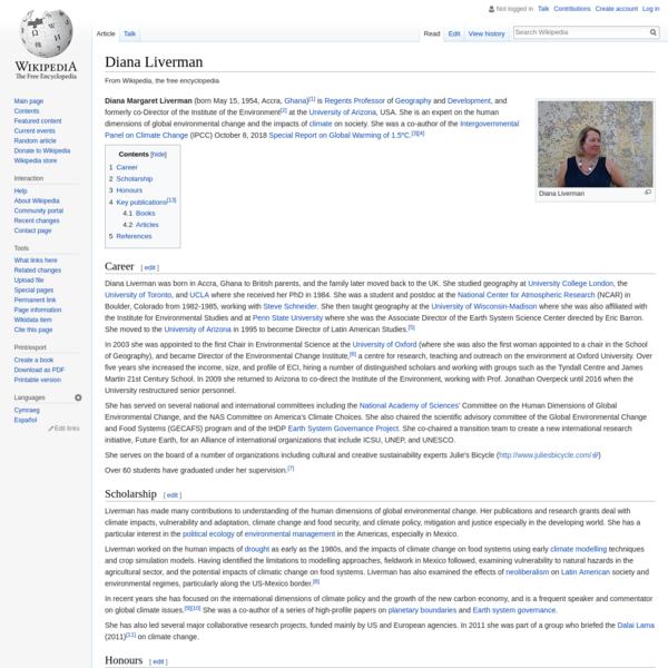 Diana Liverman - Wikipedia