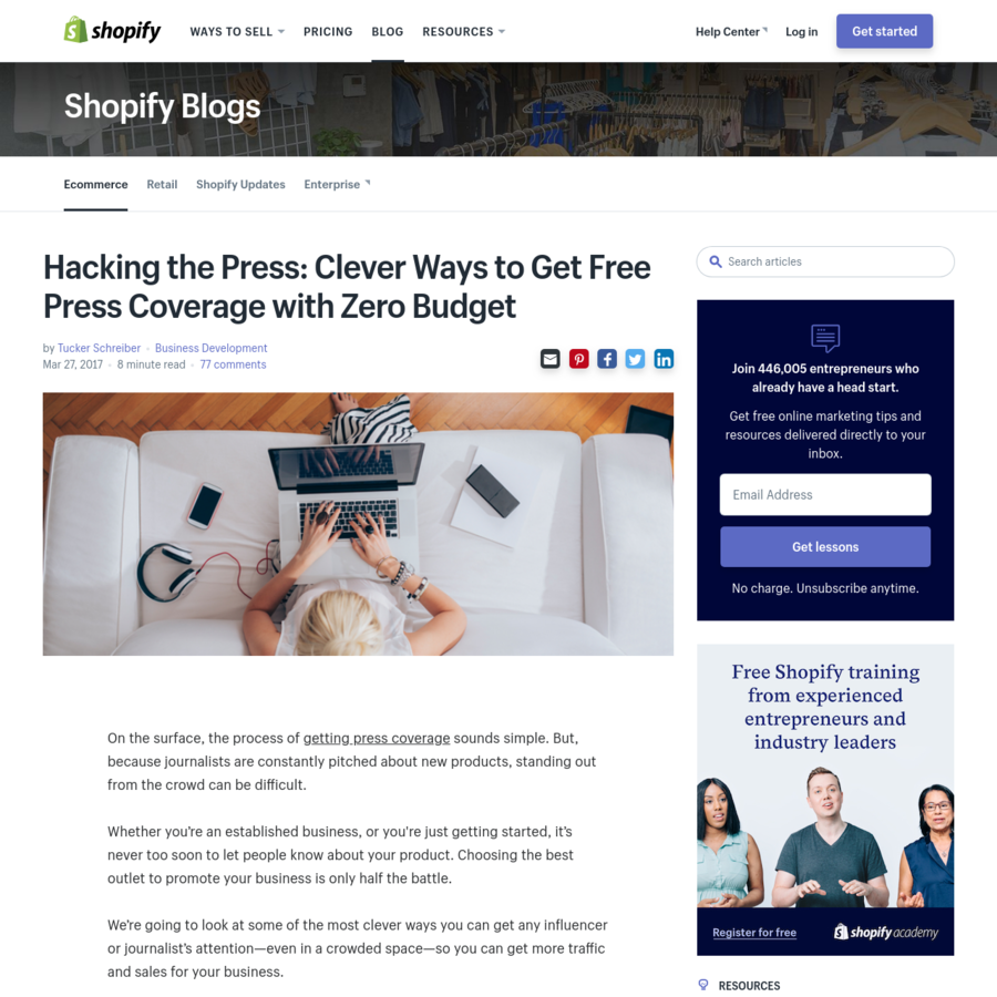 On the surface, the process of getting press coverage sounds simple. But, because journalists are constantly pitched about new products, standing out from the crowd can be difficult.Whether you're an established business, or you're just getting started, it's never too soon to let people know about your product.