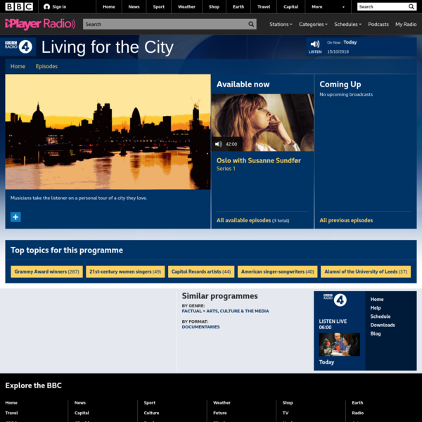 BBC Radio 4 - Living for the City