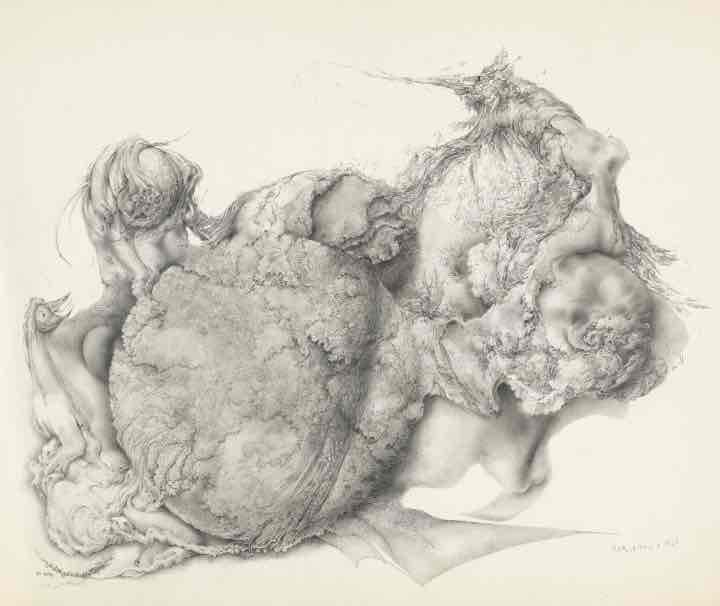 Untitled (Botanical Globe with Emerging Life Forms)