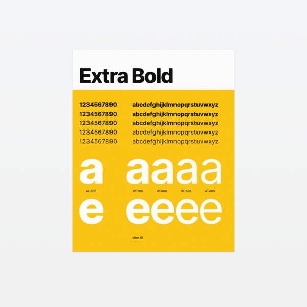 """Inter UI poster """"Extra Bold"""""""