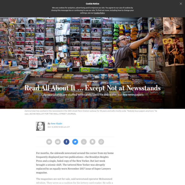 Read All About It … Except Not at Newsstands - WSJ
