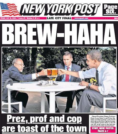 NY Post Beer Summit Headline