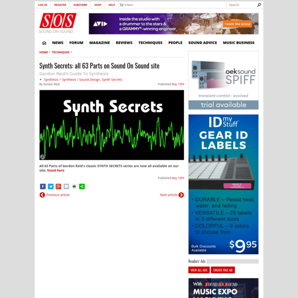 How to find this classic multi-part 'synthesis explained' tutorial series on the current Sound On Sound site.