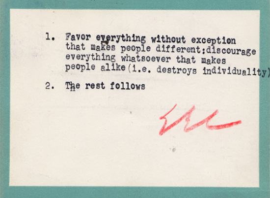 E. E. Cummings's Postcard