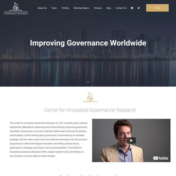 InnovativeGovernance - Improving Governance Worldwide