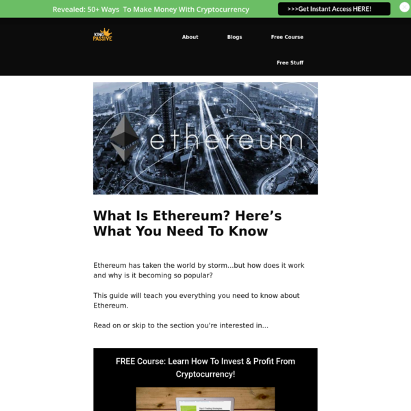 What Is Ethereum? Here's What You Need To Know