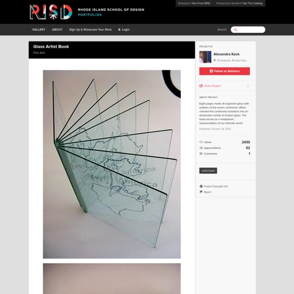 Glass Artist Book on RISD Portfolios