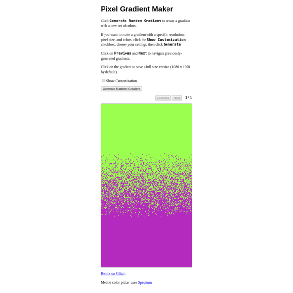 Pixel Gradient Maker