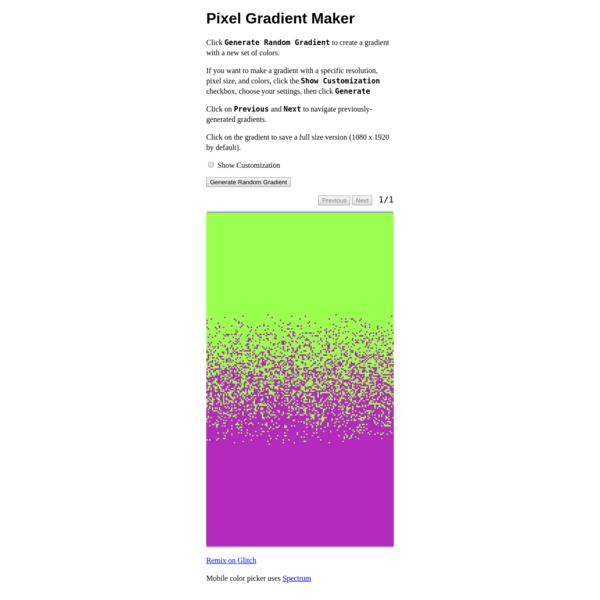 Pixel Gradient Maker