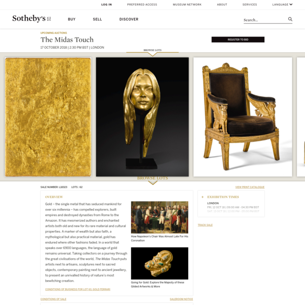 The Midas Touch   Sotheby's