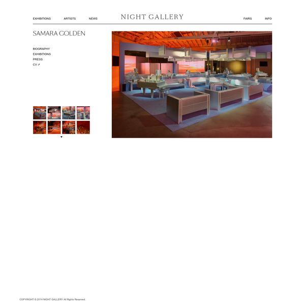NIGHT GALLERY | SAMARA GOLDEN