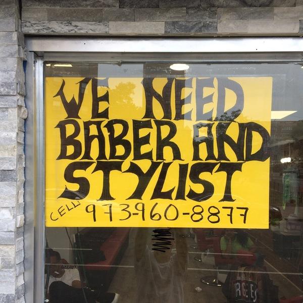 barber shop lettering