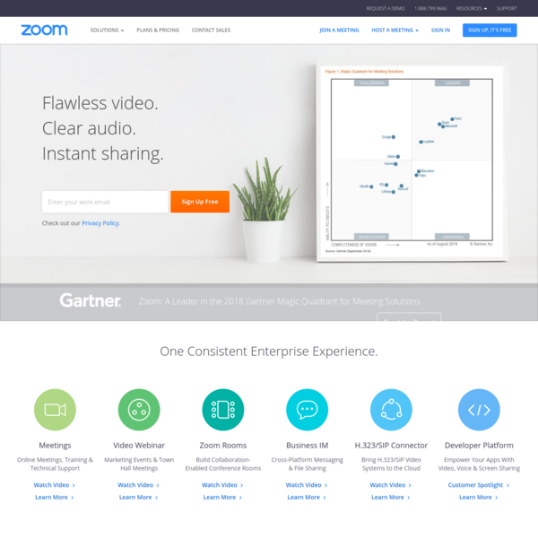 Zoom is the leader in modern enterprise video communications, with an easy, reliable cloud platform for video and audio conferencing, chat, and webinars across mobile, desktop, and room systems. Zoom Rooms is the original software-based conference room solution used around the world in board, conference, huddle, and training rooms, as well as executive offices and classrooms. Founded in 2011, Zoom helps businesses and organizations bring their teams together in a frictionless environment to get more done.