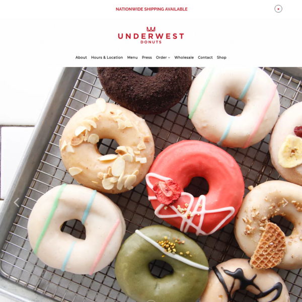 Underwest Donuts celebrates the undeniable marriage between donuts and coffee & New York City's on-the-go culture.