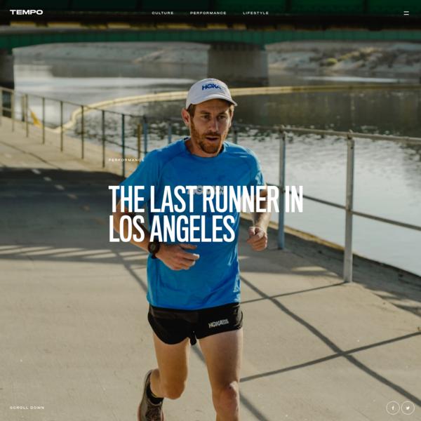 The last runner in Los Angeles