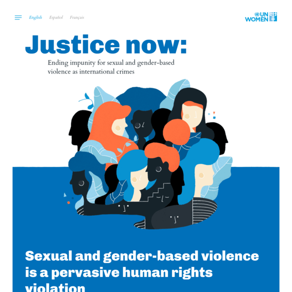 End impunity for sexual and gender-based violence as international crimes. Discover the paths to justice.