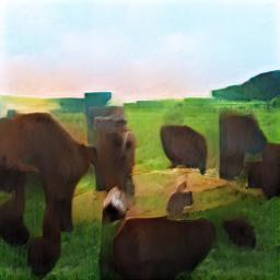 green pastures cattle trees
