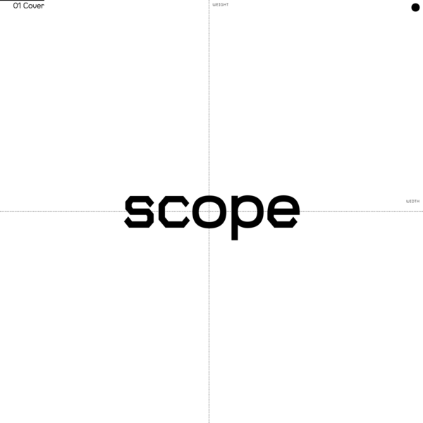 Scope is a variable, monolinear typeface designed to enable typographic interactions.