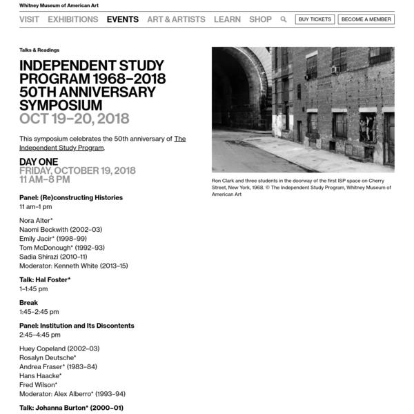 Independent Study Program 1968-2018 50th Anniversary Symposium