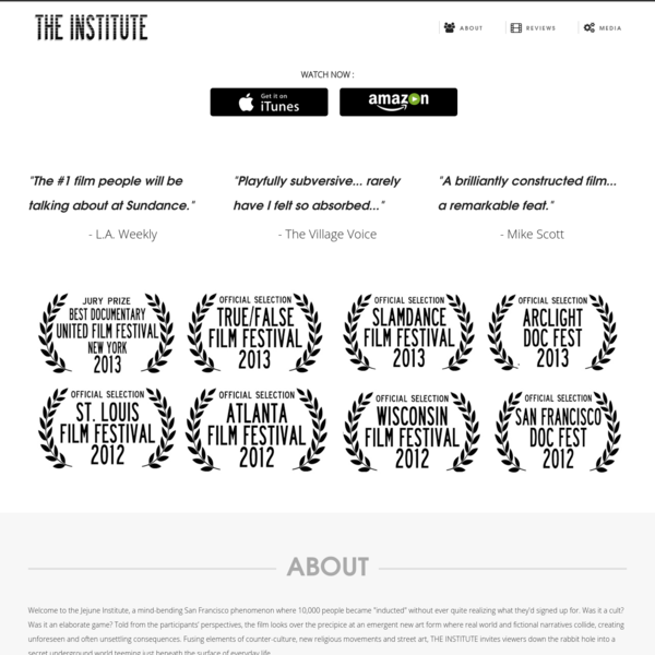 THE INSTITUTE: a 2013 documentary film