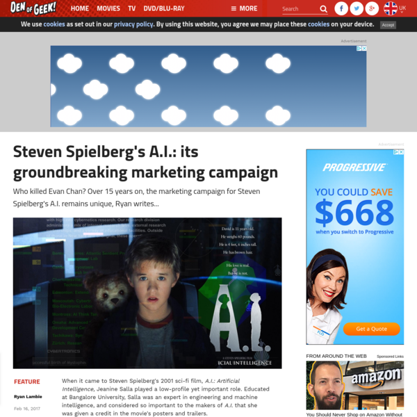 Steven Spielberg's A.I.: its groundbreaking marketing campaign