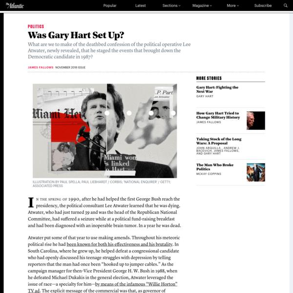 Was Gary Hart Set Up?