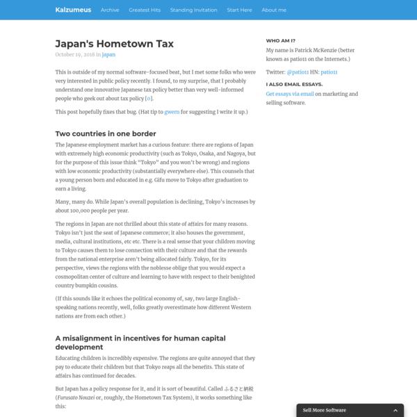 Japan's Hometown Tax | Kalzumeus Software