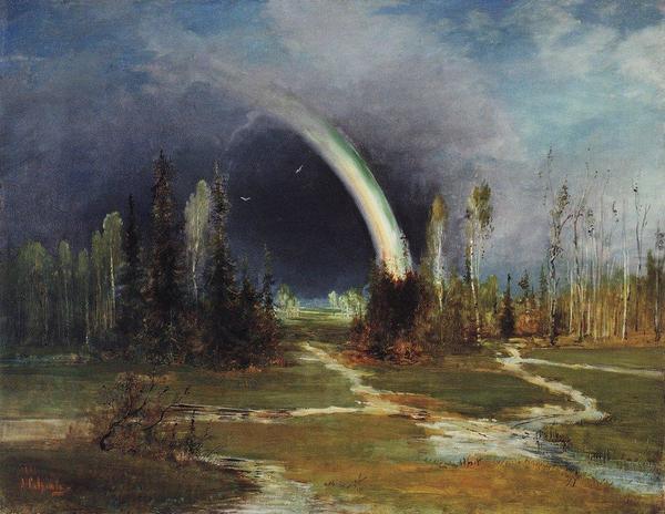 Alexey Savrasov - Landscape with a Rainbow (1881)