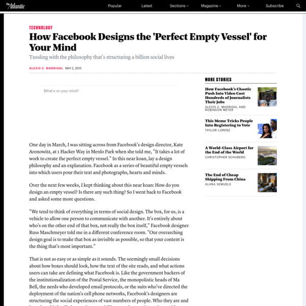 How Facebook Designs the 'Perfect Empty Vessel' for Your Mind