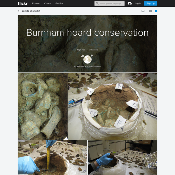 Burnham hoard conservation