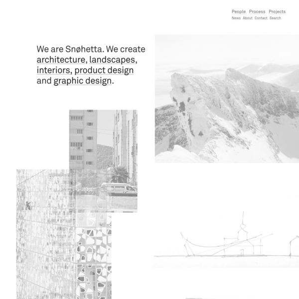 Snøhetta is an integrated design practice of architecture, landscape, interiors, furniture, graphic and brand design, with offices in Oslo, Norway, and New York, USA.