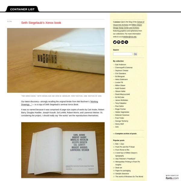 Seth Siegelaub's Xerox book