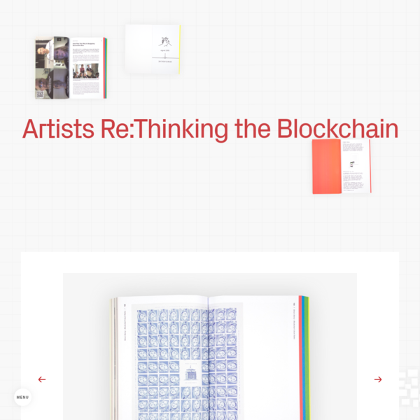 Torque Editions - Artists Re:Thinking the Blockchain
