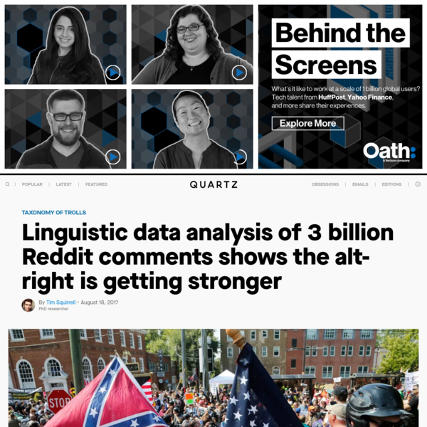Linguistic data analysis of 3 billion Reddit comments shows the alt-right is getting stronger