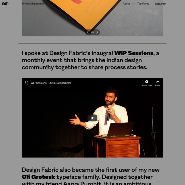 Shiva Nallaperumal | Graphic Design & Typography - Home
