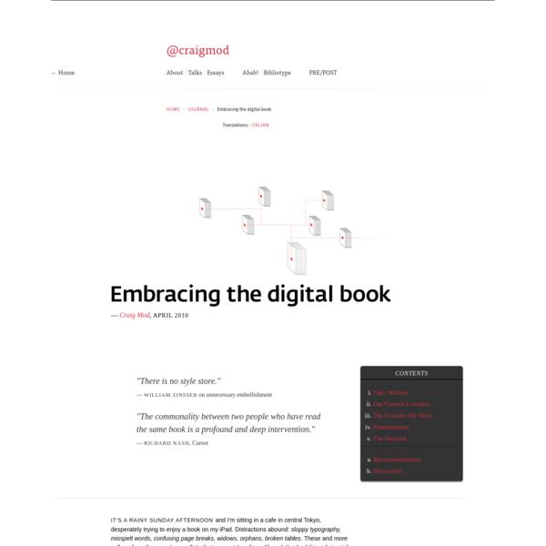 Embracing the Digital Book - by Craig Mod