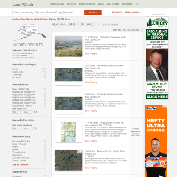 LandWatch has 37 listings for sale in Alaska. View listing photos, contact sellers, and use filters to find listings of land for sale | LandWatch