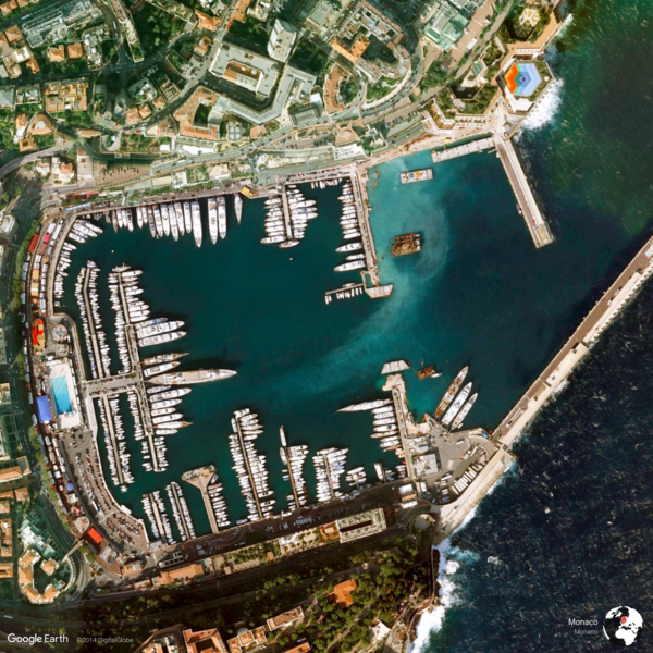 Monaco, Monaco - Earth View from Google