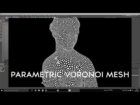 C4D Tutorial - Parametric Voronoi mesh