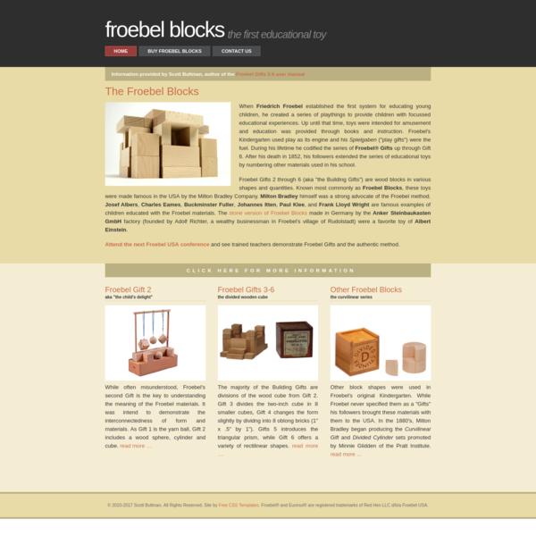 Froebel ® Blocks - educational toys from the original Kindergarten