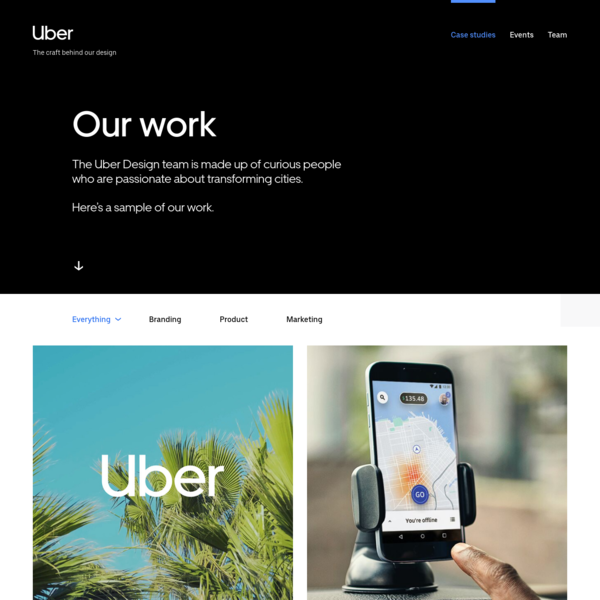 Design at Uber | See our work | Case studies