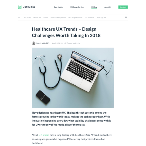 Healthcare UX Challenges 2018