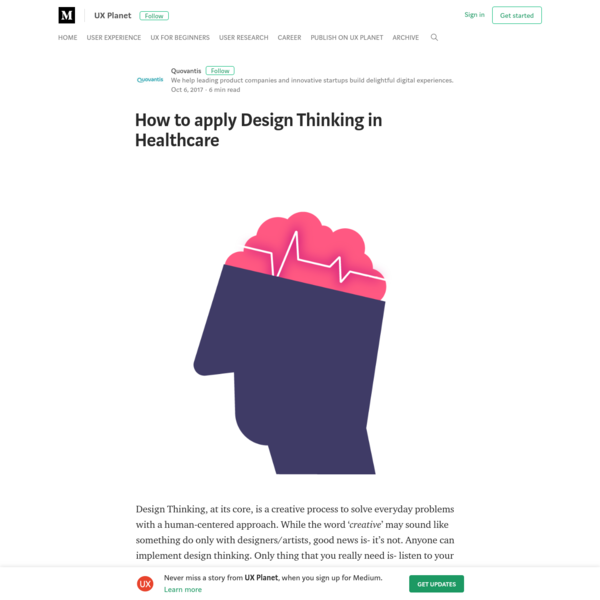 How to apply Design Thinking in Healthcare - UX Planet