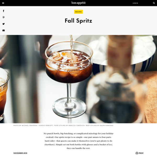 Fall Spritz Recipe