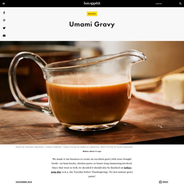 Umami Gravy Recipe